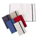 TOPS Designer Notebook, 5 1/2 x 3 1/2, 96 Sheets, Red Forum Cover