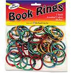 "The Pencil Grip Book Ring, Metallic, 1/10""Wx1""Lx1""H, 50 EA/PK, AST"
