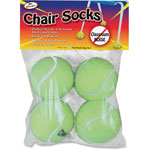 The Pencil Grip Chair Socks, f/Desk/Chairs, 36/PK, Yellow
