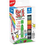 The Pencil Grip Kwik Stix Solid Tempera Paint Sticks, 6/PK, Ast