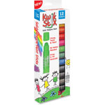 The Pencil Grip Kwik Stix Solid Tempera Paint Sticks, 12/PK, Ast