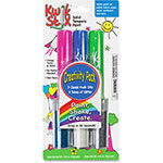 The Pencil Grip Kwick Stix Solid Tempera Paint Sticks, 6/PK, Glitter/Ast