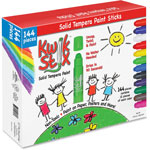 The Pencil Grip Kwick Stix Solid Tempera Pain Sticks, 144/PK, Ast