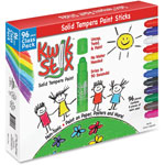 The Pencil Grip Classic Kwik Stix Paint Sticks, 96/PK, Ast