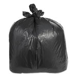 "Trinity Black Trash Bags, 55 Gallon, 2.4 Mil, 38"" x 58"", Case of 100"