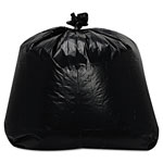 "Trinity Black Trash Bags, 56 Gallon, 1.7 Mil, 43"" x 47"", Case of 100"