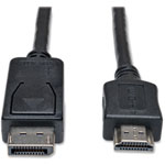 Tripp Lite Displayport To HD Cable Adapter, 3FT, Black
