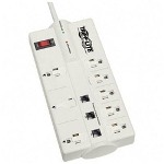 Tripp Lite  TLP808TEL Protect It!™ 8 Outlet SurSuppressor with Tel/Modem Protection, Computer Gray