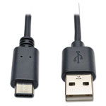 Tripp Lite USB 2.0 Gold Cable, USB A Male, 6 ft, Black