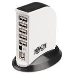 Tripp Lite 7-Port USB Upright Hub, 4w x 2 1/2d x 1 1/4h, White/Black Base