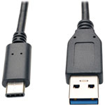 Tripp Lite USB 3.1 Cable, Gen 2, Type-C to USB-A, M/M, 3' L