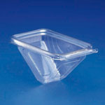 Inline Plastics Safe-T-Fresh PET Tamper Resistant Sandwich Wedge Container