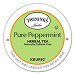 Twinings Tea K-Cups, Peppermint Tea, 0.11 oz K-Cups, 24/Box