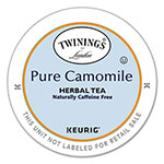 Twinings Tea K-Cups, Camomile Tea, 0.11 oz K-Cups, 24/Box