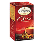 Twinings Tea Bags, Chai, 1.76 oz, 25/Box