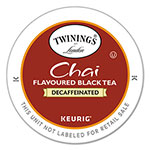 Twinings Tea K-Cups, Chai Decaffeinated Tea, 0.12 oz K-Cups, 24/Box