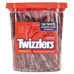 Twizzlers® Strawberry Twizzlers Licorice, Individually Wrapped, 180/Tub, 57.5 oz Tub