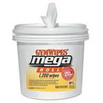 2XL Gym Wipes Mega Roll Wipes, 8 x 8, White, 1200 Wipes/Bucket, 2 Buckets/Carton