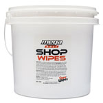 2XL Shop Wipes Mega Roll, 8 X 12, White, Unscented, 400/bucket, 2 Buckets/carton