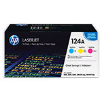 HP 124A Cyan/Magenta/Yellow Toner Cartridge, Model CE257A, Page Yield 2000