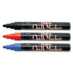 Uchida of America Bistro Chalk Marker,6mm Tip,Erasable,Water-based,Blue