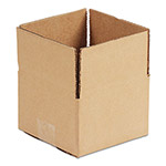 General Brown Corrugated - Fixed-Depth Shipping Boxes, 10l x 10w x 3h, 25/Bundle