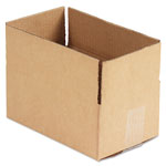 General Brown Corrugated - Fixed Depth Boxes, 6l x 10w x 4h, 25/Bundle