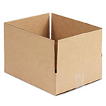 General Brown Corrugated - Fixed Depth Boxes, 10l x 12w x 3h, Brown, 25/Bundle