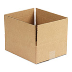 General Brown Corrugated - Fixed Depth Boxes, 10l x 12w x 4h, Brown, 25/Bundle