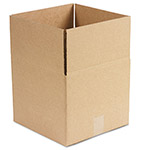 General Brown Corrugated - Fixed Depth Boxes, 12l x 12w x 10h, Brown, 25/Bundle
