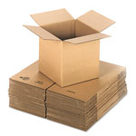 General Brown Corrugated - Cubed Fixed Depth Boxes, 12l x 12w x 12h, Brown, 25/Bundle