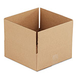 General Brown Corrugated - Fixed Depth Boxes, 12l x 12w x 4h, Brown, 25/Bundle
