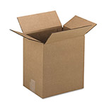 General Brown Corrugated - Fixed Depth Boxes, 9l x 12w x 3h, Brown, 25/Bundle