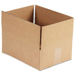 General Brown Corrugated - Fixed Depth Boxes, 9l x 12w x 4h, Brown, 25/Bundle