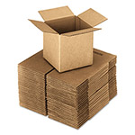 General Brown Corrugated - Cubed Fixed-Depth Shipping Boxes, 4l x 4w x 4h, 25/Bundle