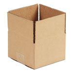 General Brown Corrugated - Fixed-Depth Shipping Boxes, 6l x 4w x 4h, 25/Bundle