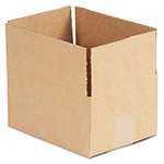 General Brown Corrugated - Fixed Depth Boxes, 6l x 8w x 4h, 25/Bundle
