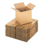 General Brown Corrugated - Cubed Fixed Depth Boxes, 8l x 8w x 8h, Brown, 25/Bundle