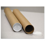 "General Adjustable Round Mailing Tubes, 60l - 120l x 3 1/8"" dia., Brown Kraft, 12/Pack"