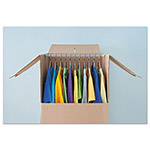 "General Wardrobe Moving/Storage Box Hanger Bar, 24"" Long, Silver, 5/Pack"