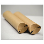 "General Snap-End Mailing Tubes, 18l x 1 1/2"" dia., Brown Kraft, 25/Pack"