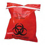 "Unimed-Midwest Biohazard Red Trash Bags, 2 Mil, 9"" X 10"", Case of 100"