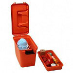 "Unimed-Midwest First Aid Stor. Transport Case, 15-1/4"" x 7-5/8"" x 10-1/8"", Orange"