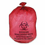 Unimed-Midwest Biohazard Waste Bag, 20 25 Gallon, 50/BX, Red