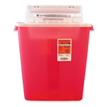 Unimed-Midwest S3GR100537 Red Biohazard Sharps Refill with Sharpstar Lid, 3 Gallon