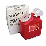 Unimed-Midwest Mail-away Sharp Container, 2 Gallon, Red
