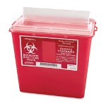 Unimed-Midwest SCMC019822 Biohazard Infectious Container for Sharp Objects, 8 Quarts