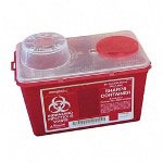 Unimed-Midwest SCSM019236 Red Biohazard Infectious Container for Sharp Objects, 4 Quarts