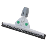 "Unger SmartFit Sanitary Brush, 18"", Black/White"