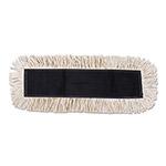 Unisan Disposable Dust Mop Head with Sewn Center Fringe, Cotton/Synthetic, 24w x 5d